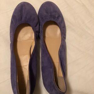 J crew purple suede ballet flats